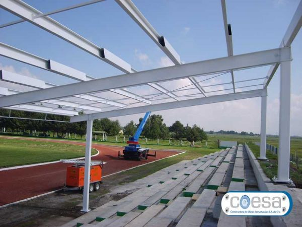 Obras fabricacion montaje de estructuras metalicas estructura metalica toluca metepec df - Estructura metalica cubierta ...